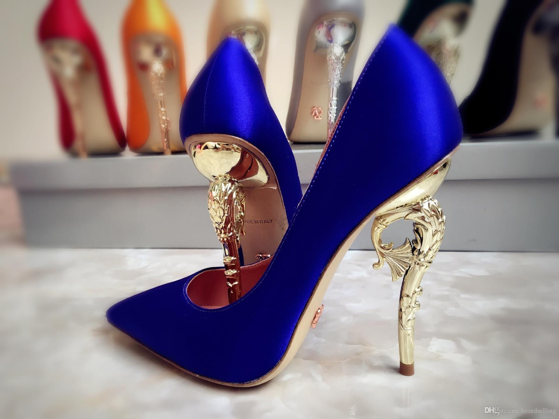 Ralph Russo Haute High Quality Women Shoes Dress Pumps Emerald