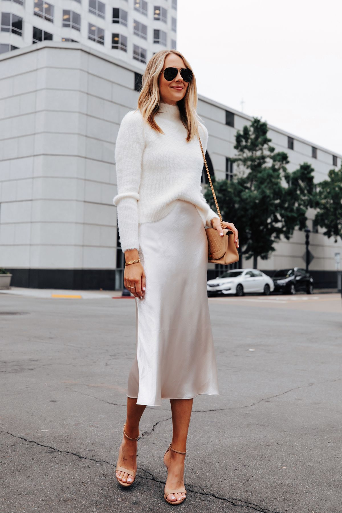 Winter White Outfit Idea For a Casual Holiday Party | Fashion Jackson