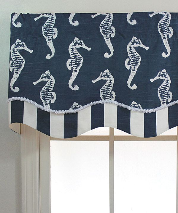 Look at this Navy Ocean Filly Glory Valance Panel on #zulily today!