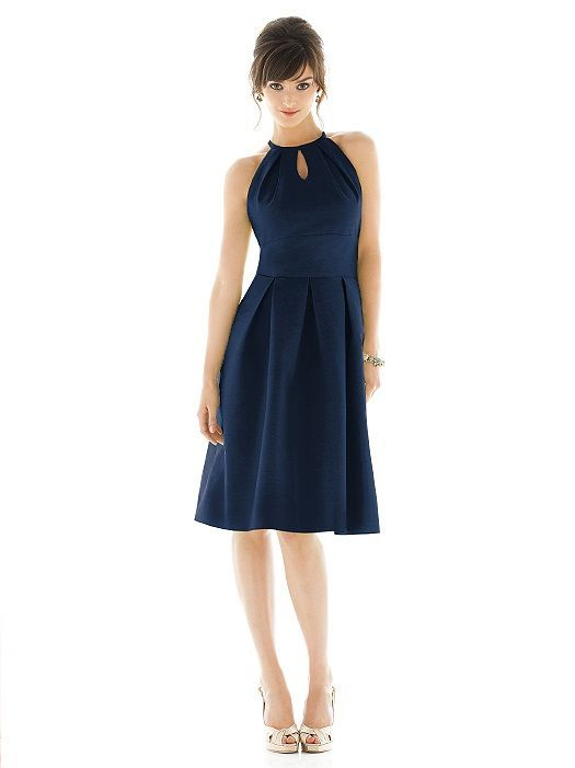 Monaco Blue Bridesmaid Dress Alfred Sung, Dessy, Style, Inspiration, Design by Lisa Sammons Events