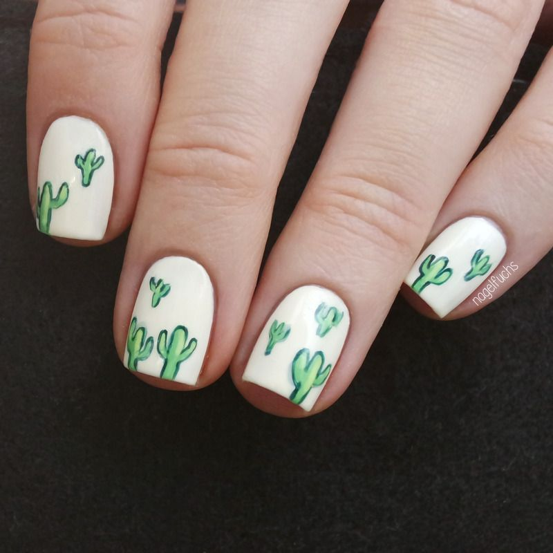 ManiMonday: Cactus nails! | The Nail File | Pinterest | Uñas ...