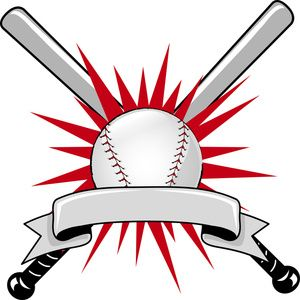 Baseball bat two. Clipart image sports logo