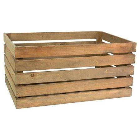 Wood Rectangular Milk Crate Threshold Target Milk Crates Rectangle Storage Wood