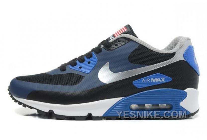 new product 40c1c b08c2 Men s Sneakers Nike Air Max 90 Hyp Prm dark blue   silver Cheap Price USA  Sale