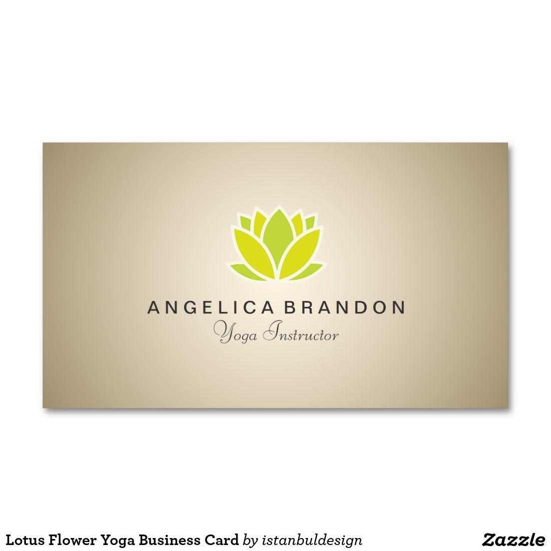 Lotus Flower Yoga Business Card Modles De Cartes Visite Fleur