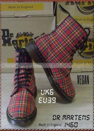 Dr Martens 1460 produit original vegan Tartan UK6 ou pointure 39 MADE IN  ENGLAND  dandygirl65 cd2e6fd49c89