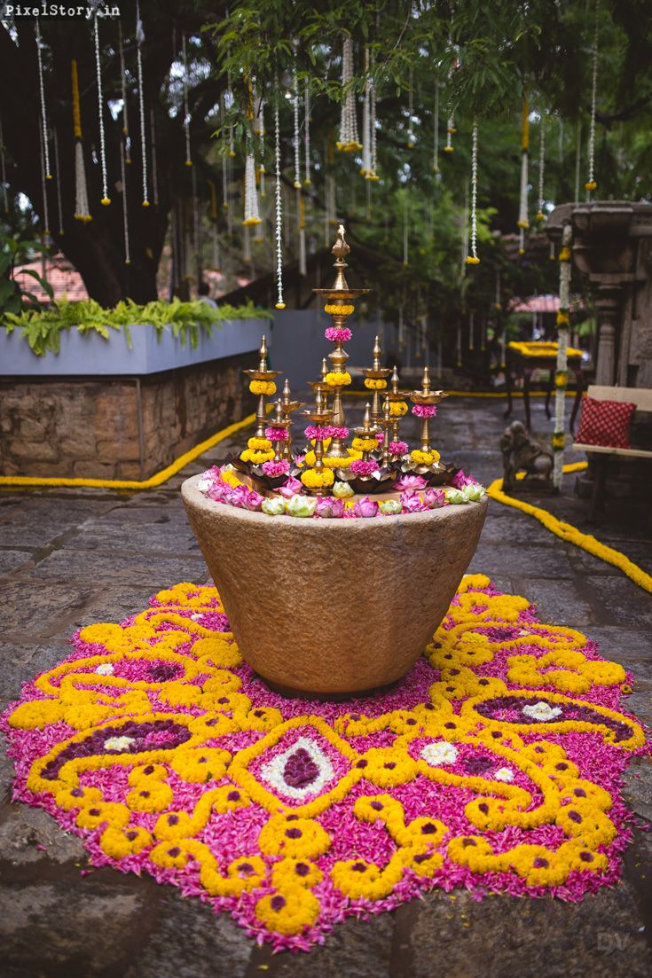 Décor work by Divya Vithika Wedding Planners, planning