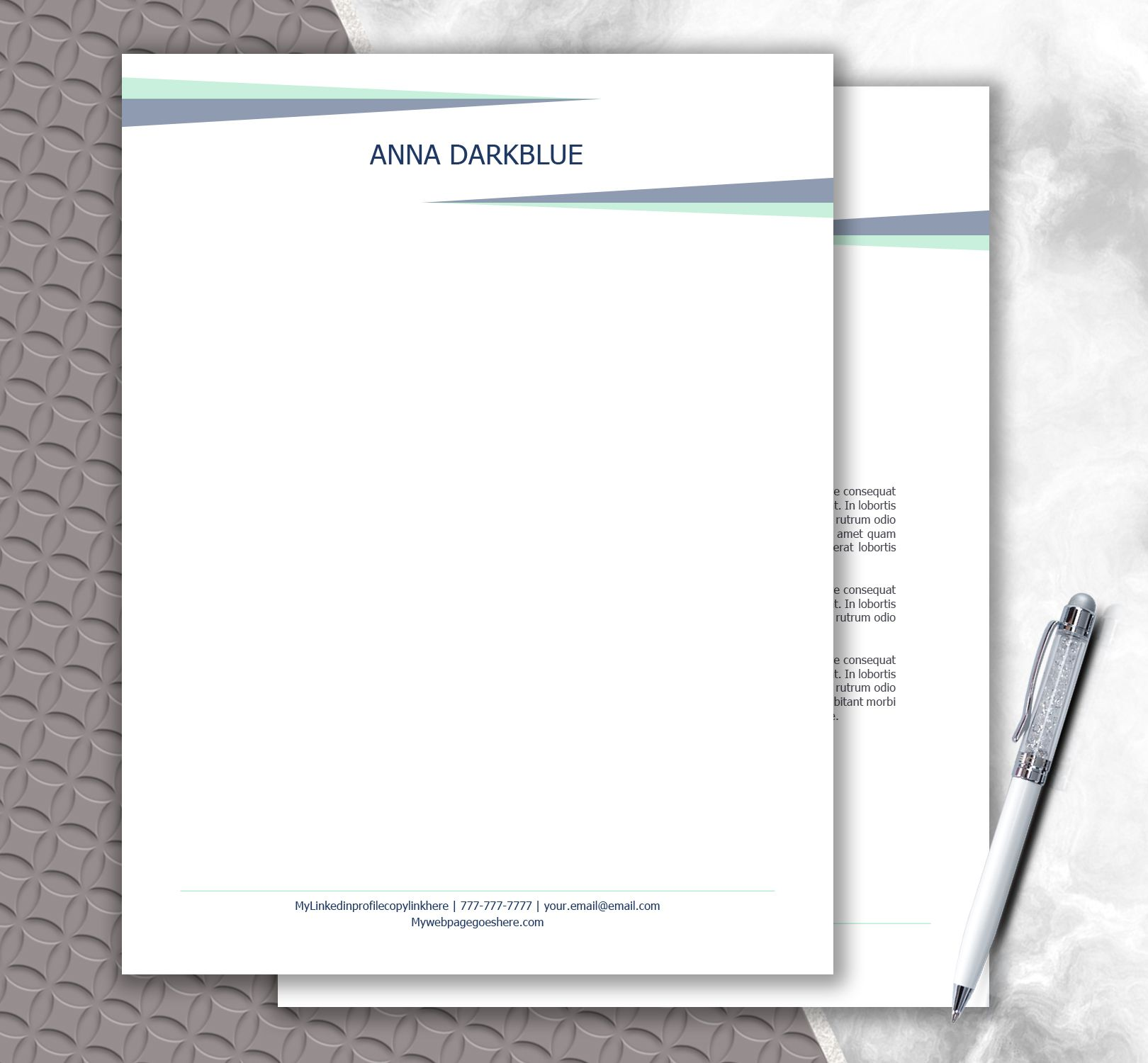 Personal Letterhead Letter Stationery Stationery