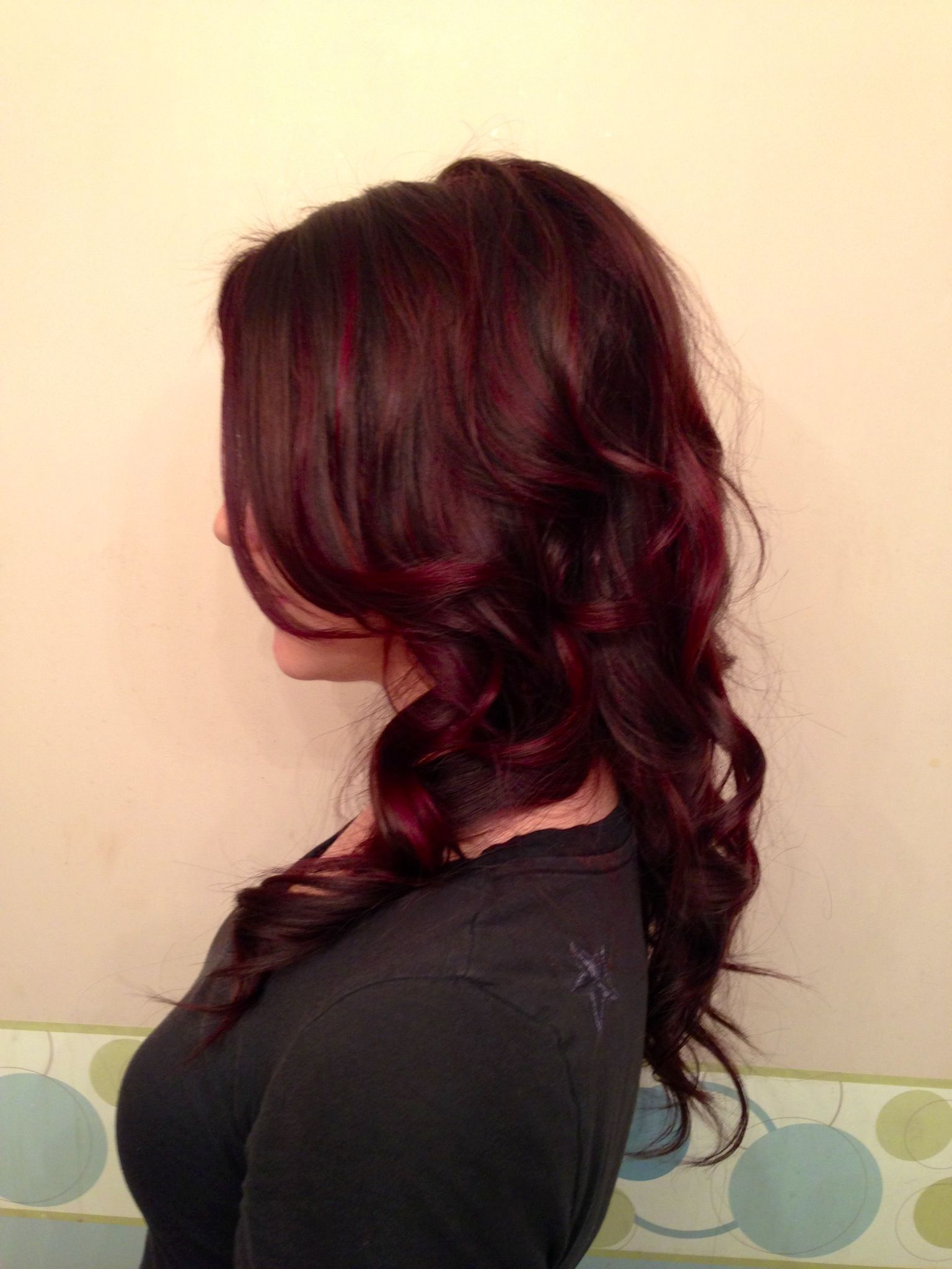 Rich Dark Chocolate And Vibrant Violet Highlights Goldwell Hair Color  Co