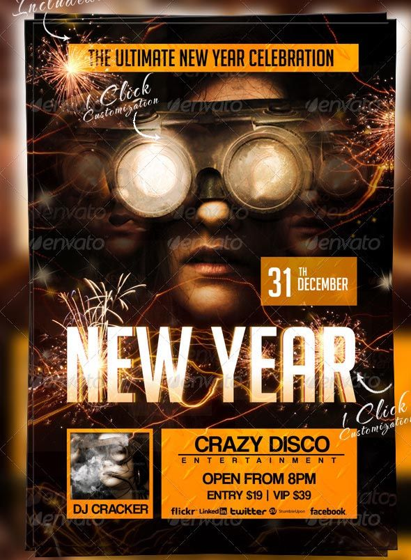 Search 100+ Stunning New Year Flyer Templates (2018) Flyer