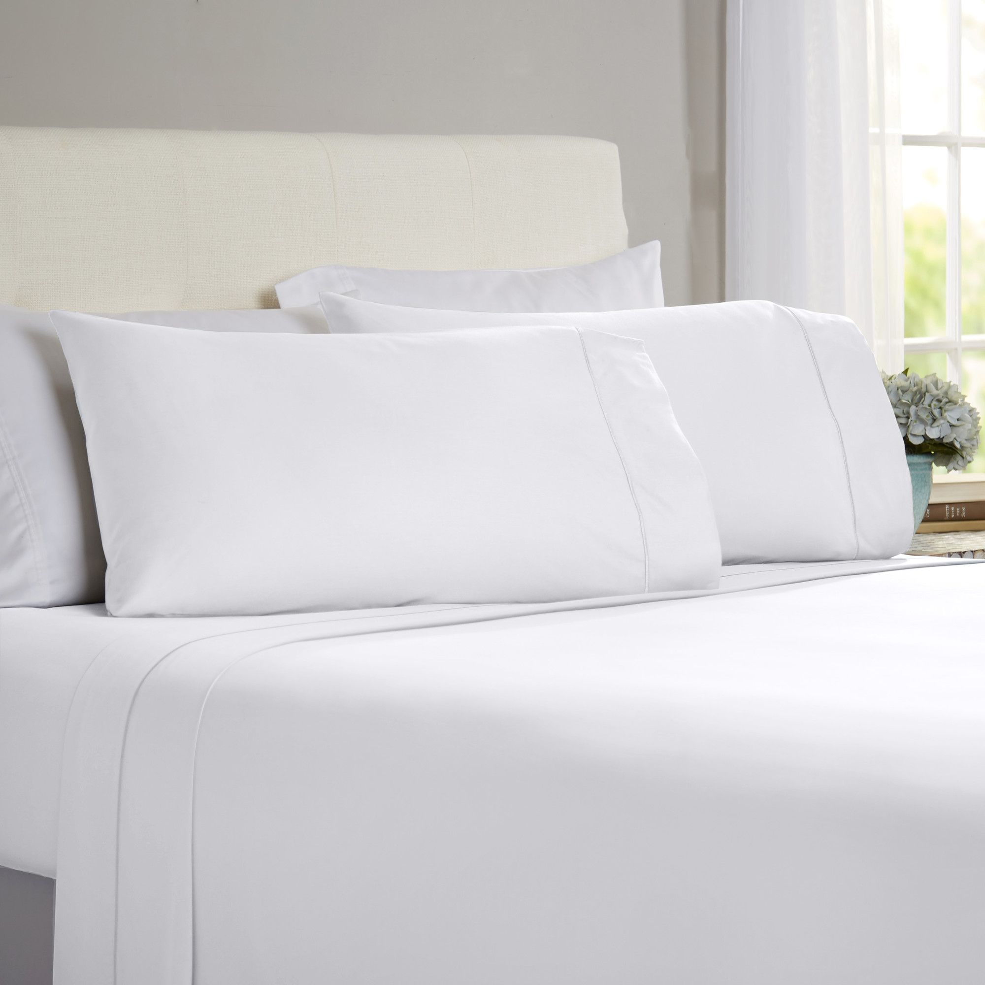 Hobbes piece thread count egyptian quality cotton sheet set