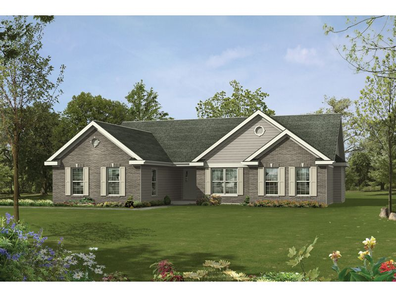 Super Simple Plan: Ranch House Plan Front of Home 058D-0060 from ...