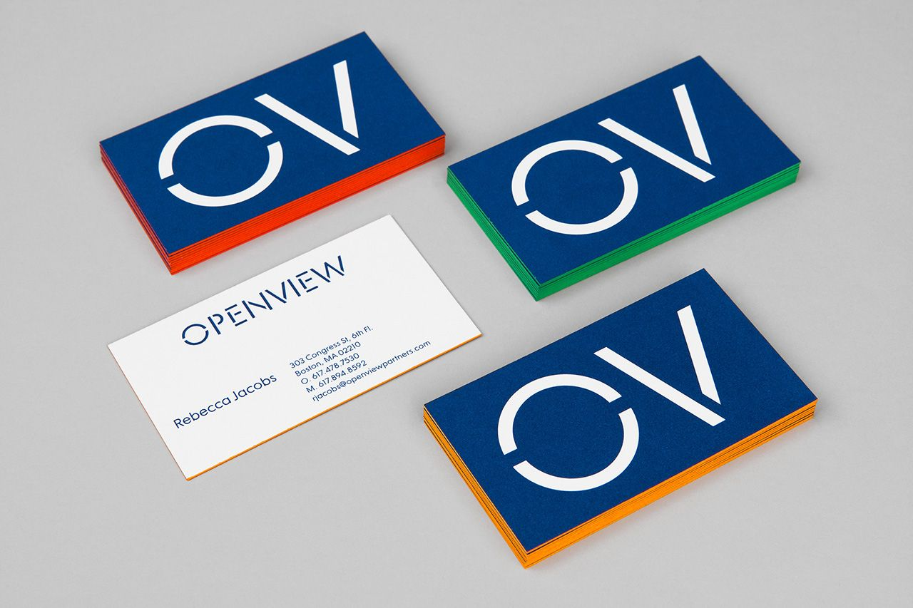New Brand Identity for OpenView by Pentagram — BP&O | Business cards ...