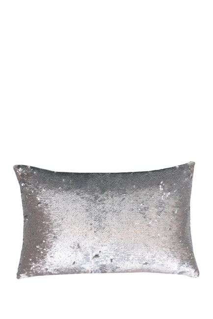 Molly Mermaid Reversible Sequin Pillow Silver 40 X 40 Sequin New Silver Sequin Decorative Pillow
