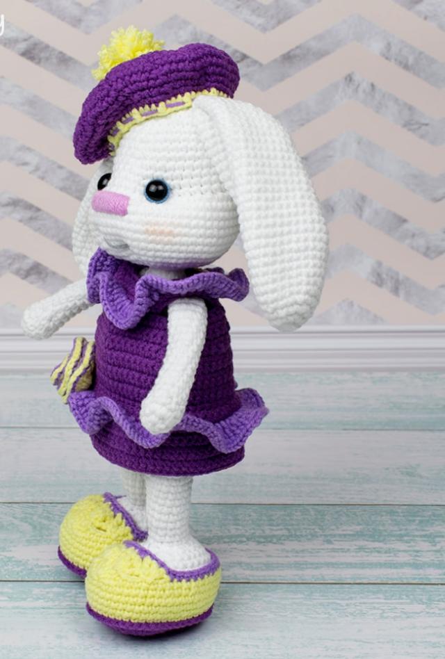 Amigurumi Sarkık Kulaklı Tavşan Tarifi, Amigurumi tavşan yapımı #bonecas
