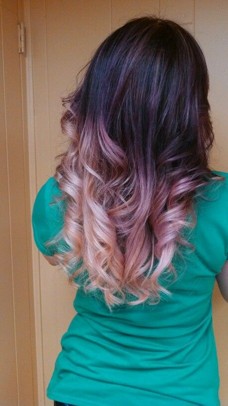 My new do #ombre #pinkpurpleblonde Love it
