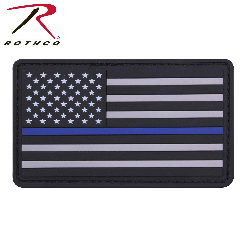 Rothco PVC Thin Blue Line Flag Patch  6e1b7aa9b88