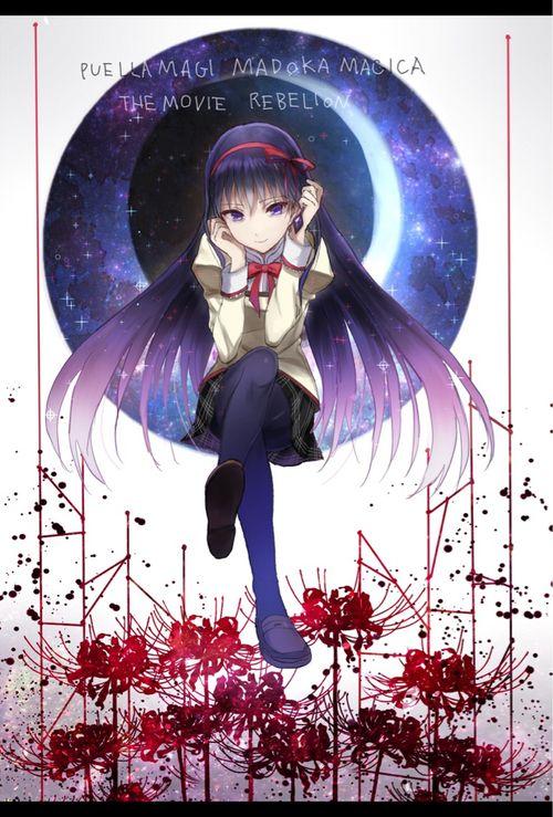 Anime Puella Magi Madoka Magica Homura Akemi Homura Akuma Madoka