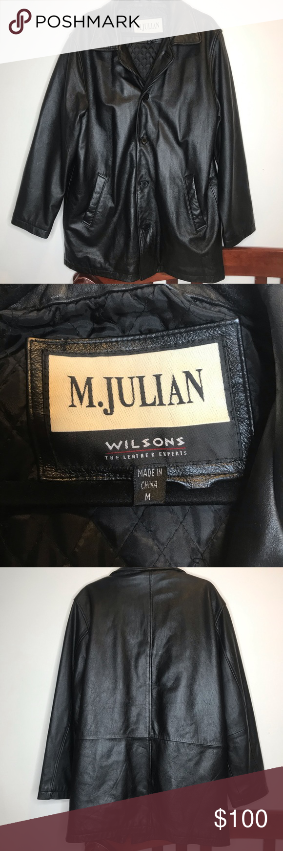 M Julian Wilsons Leather Jacket Like new. Great condition