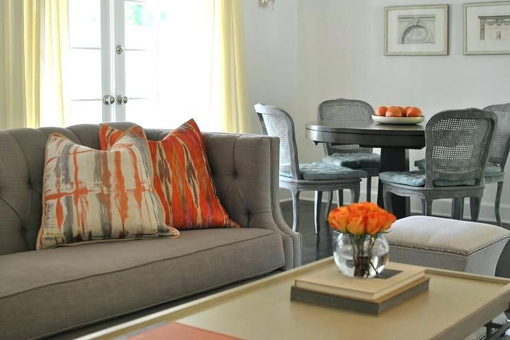 Living Room Decorating Ideas Orange Accents Beautiful Ideas Orange