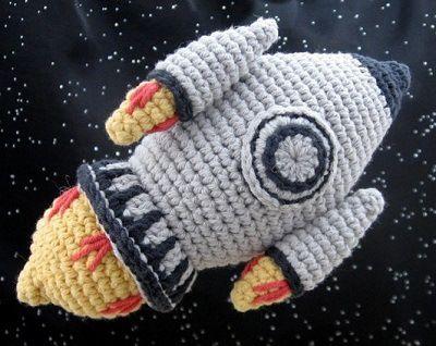 Crochet pattern for rocket on Ravelry