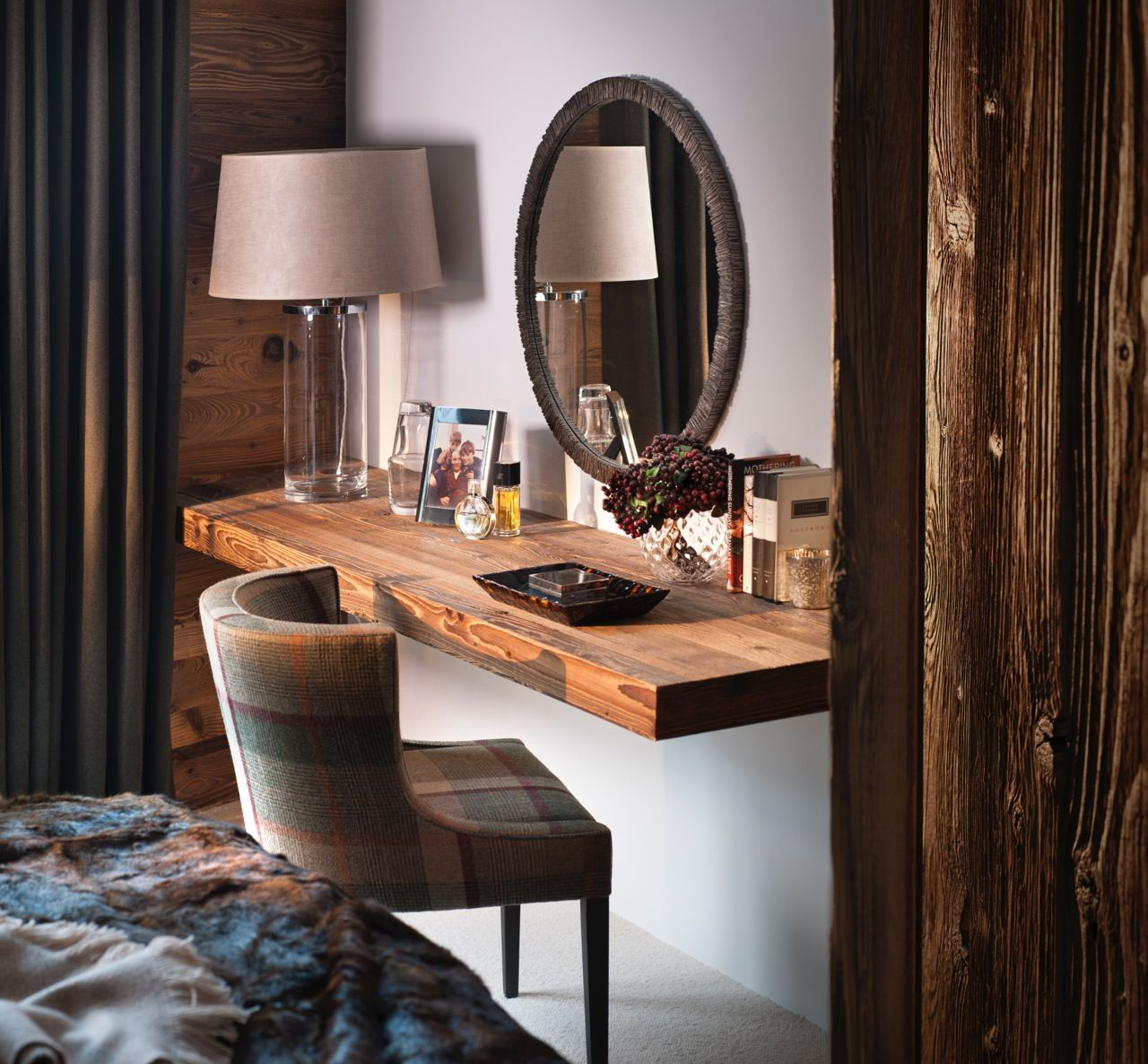 Tour A Family Ski Home In Switzerland Bedroom Dressing Table Dressing Table Rustic Home