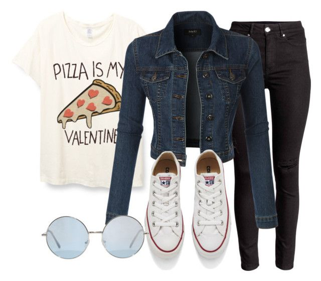 """""""*"""" by sealy913 ❤ liked on Polyvore featuring LE3NO and Converse"""