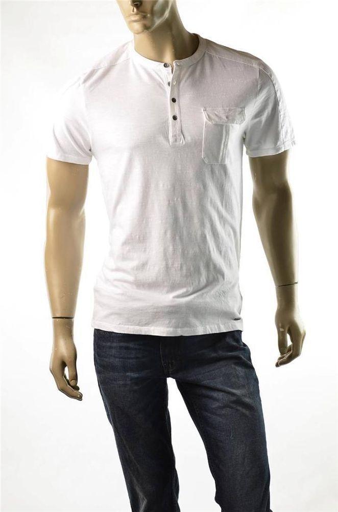 9f82a9ff102517 DKNY Jeans By Donna Karan Mens Shirt Mens 4 Button Henley Polo White Shirts  NWT  DKNY  Henley  5gables