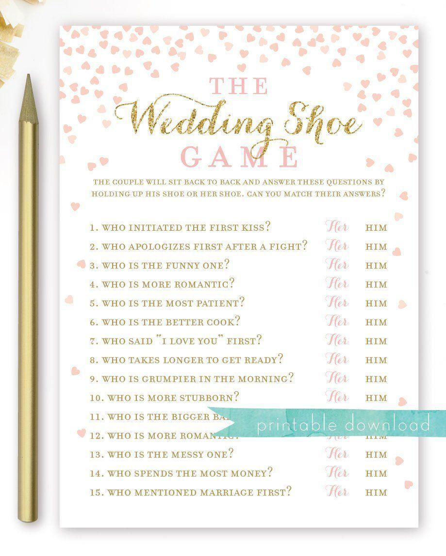 Wedding Games Ideas For Reception: The Wedding Shoe Game . Bridal Shower . Wedding Shower