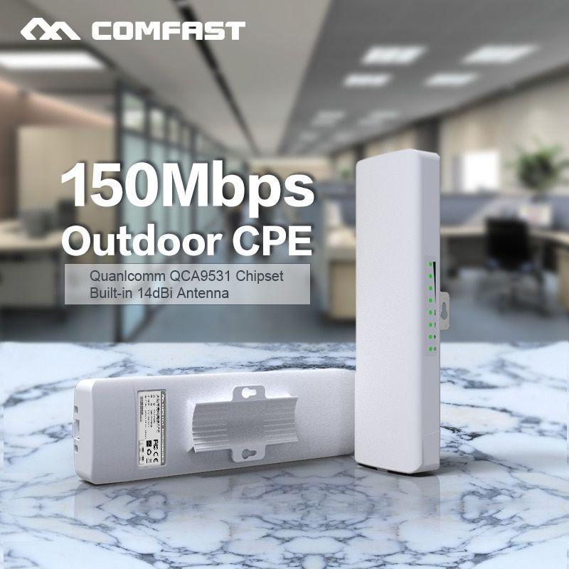 Comfast Cf E214nv2 2 4g Wireless Outdoor Router 2km Wifi Signal Booster Amplifier Wds Network Bridge 14dbi Ante Wifi Signal Booster Wifi Signal Signal Boosters