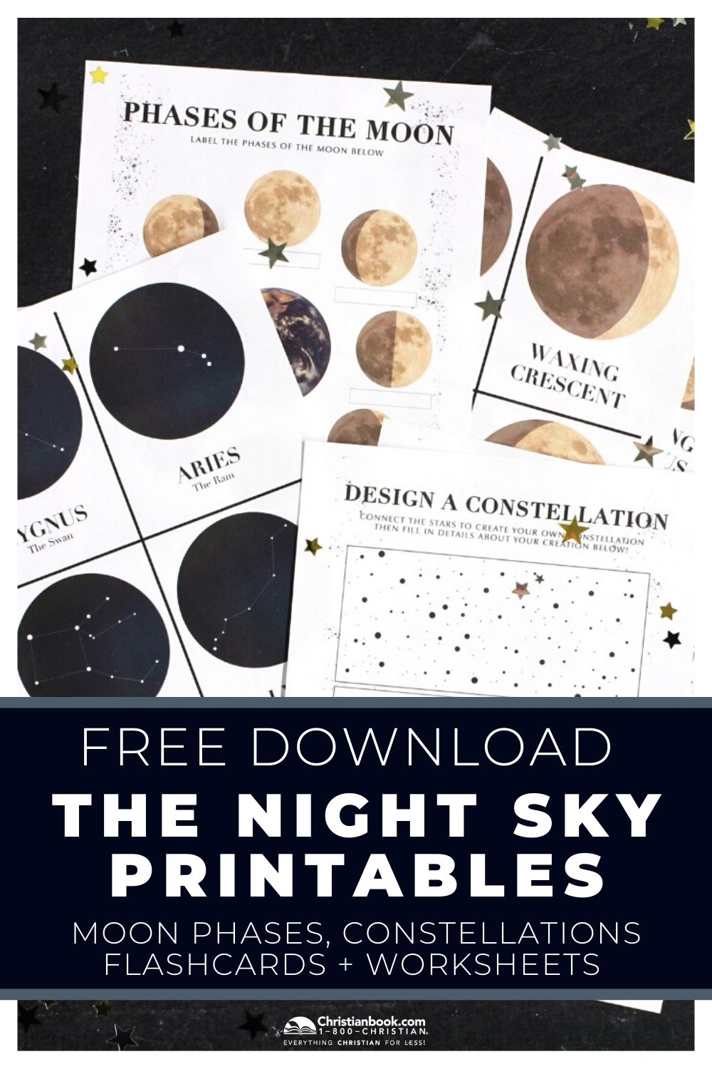 Download Your Free The Night Sky Homeschool Packet Moon Activities Moon Phase Lessons Space Theme Preschool [ 1500 x 1000 Pixel ]