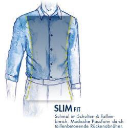 Button down shirt Svenn – Easy Iron, white patterned StrellsonStrellson