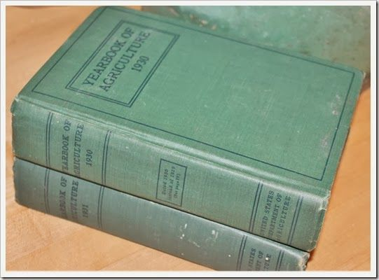 vintage 1930's agriculture books...