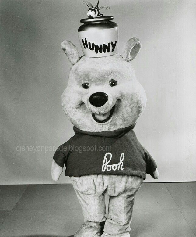 Pooh before he had eye brows.