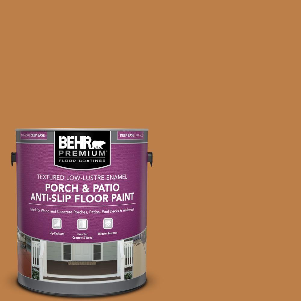 BEHR Premium 1 gal. #SC-140 Bright Tamra Textured Low-Lustre Enamel Interior/Exterior Porch and Patio Anti-Slip Floor Paint-623001 - The Home Depot
