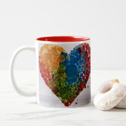 **CUPFUL OF LOVE FOR YOU** Two-Tone COFFEE MUG | Zazzle.com