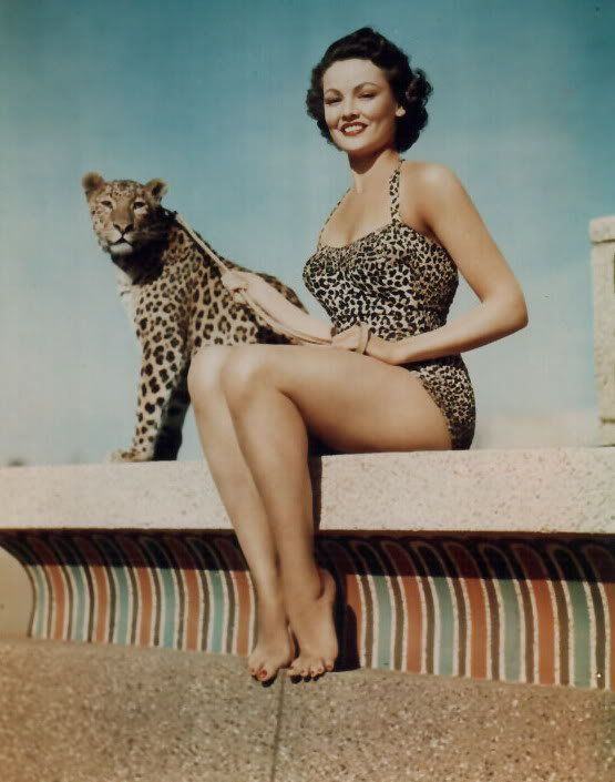leopard bathing suit and live accessory