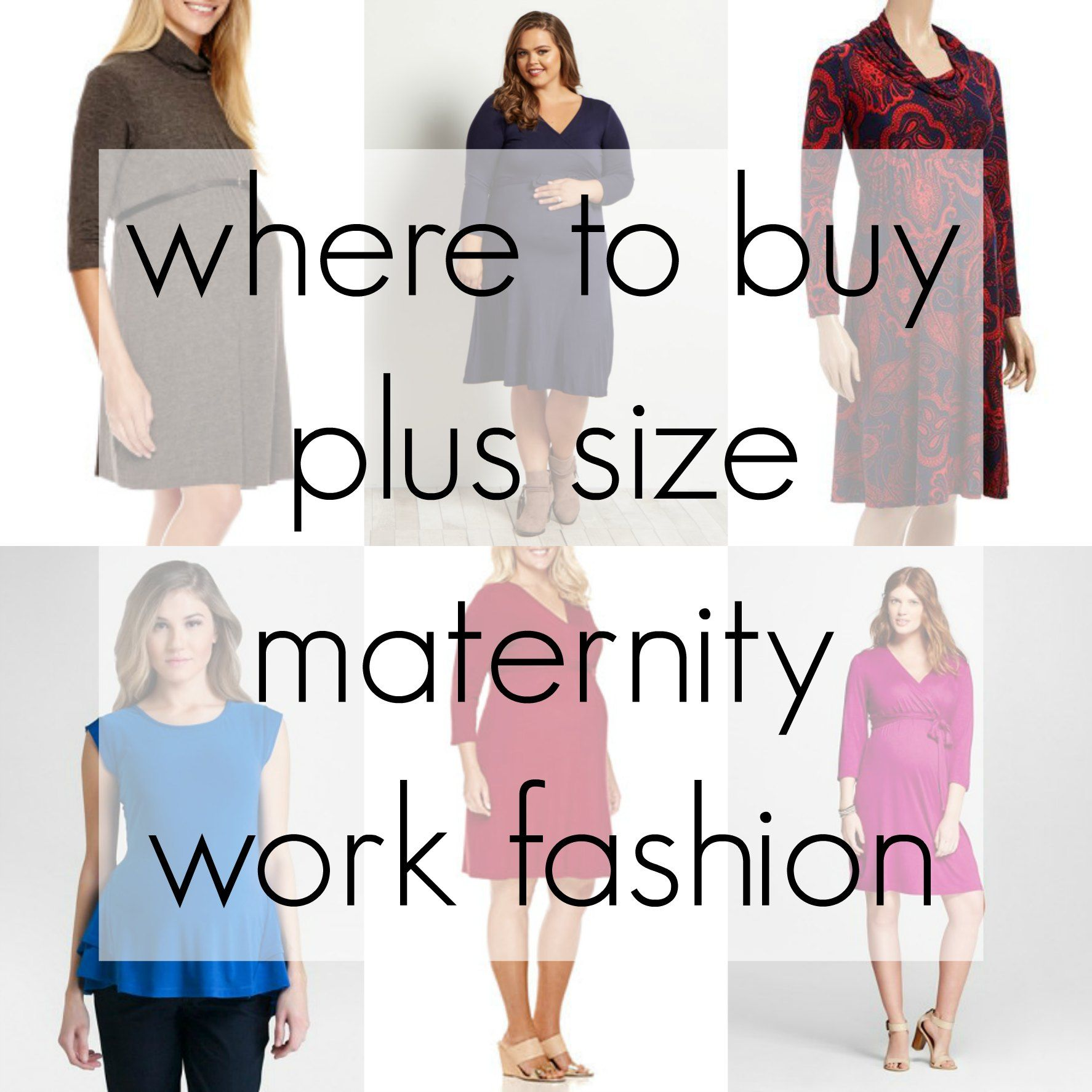 13c4a7f756fd6 Where to shop for plus size maternity work clothes - the best online  retailers…