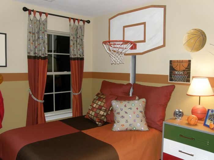 Basketball room mural idea as seen on for Rooms to go kids atlanta