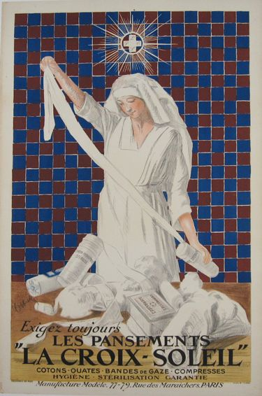 La Croix-Soleil original vintage poster by Leonetto Cappiello from 1039 France.