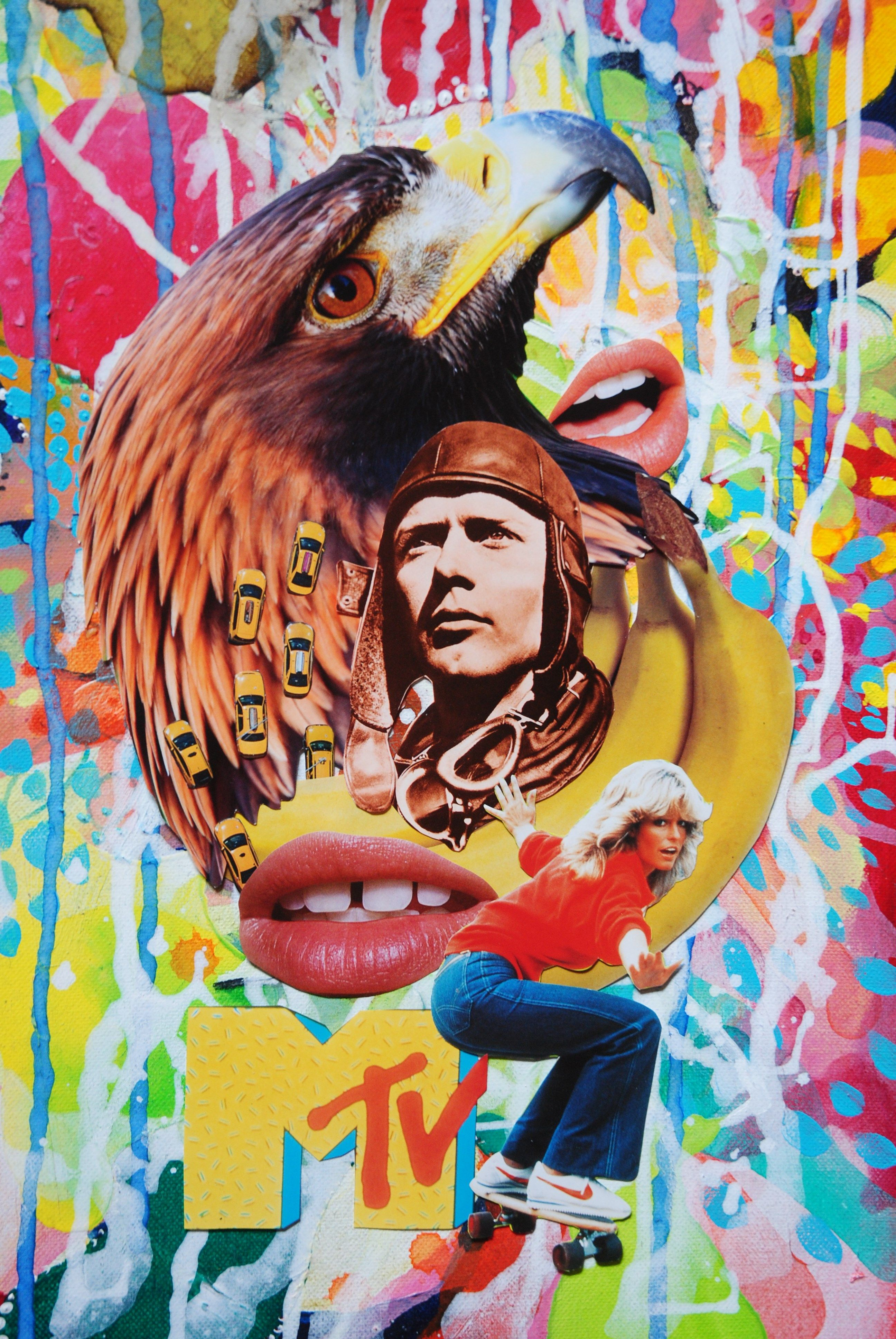 The Lone Eagle, John Turck Collage