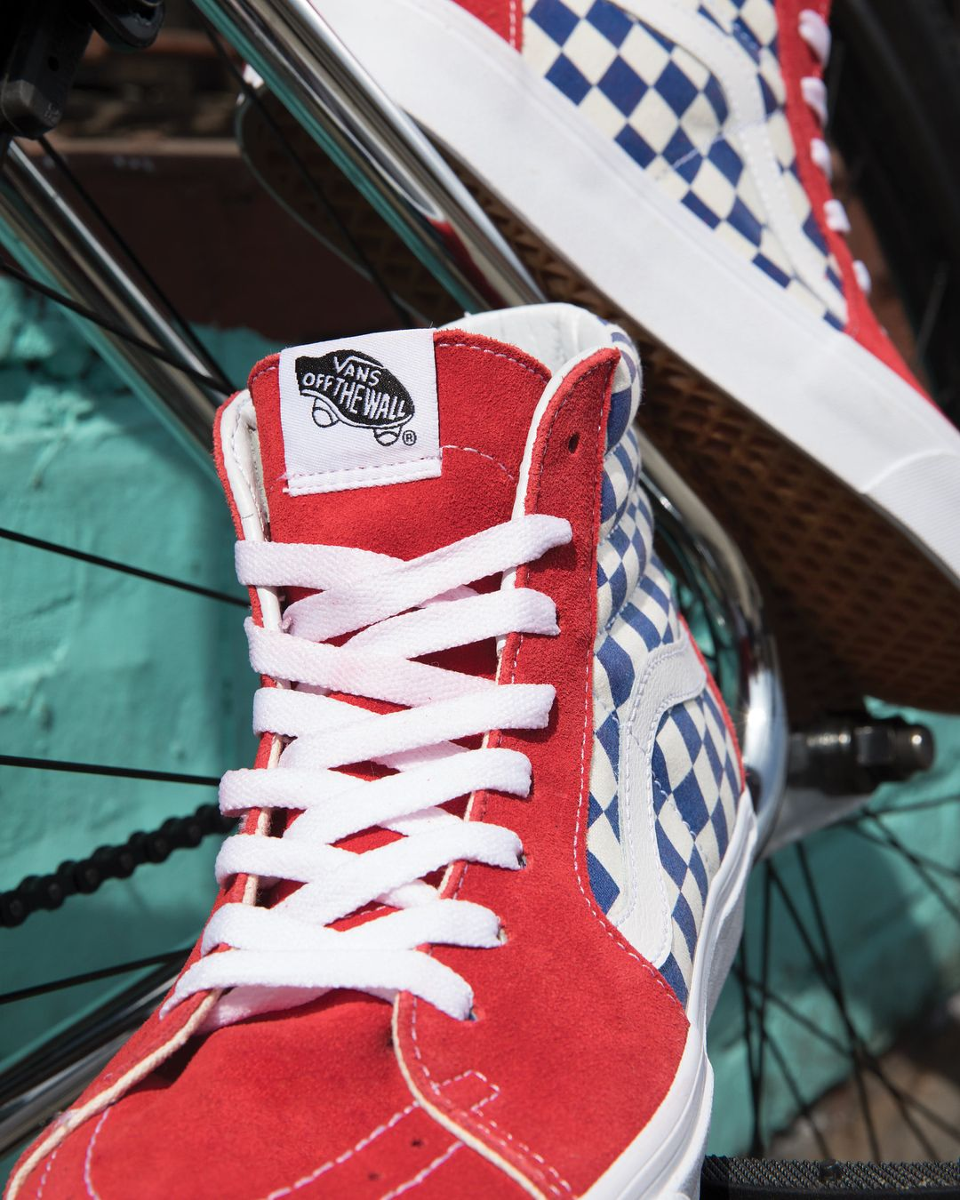 7a25e66b46  Vans SK8-Hi  BMX Checkerboard  Men s and Kids. Hitting stores and online  now!