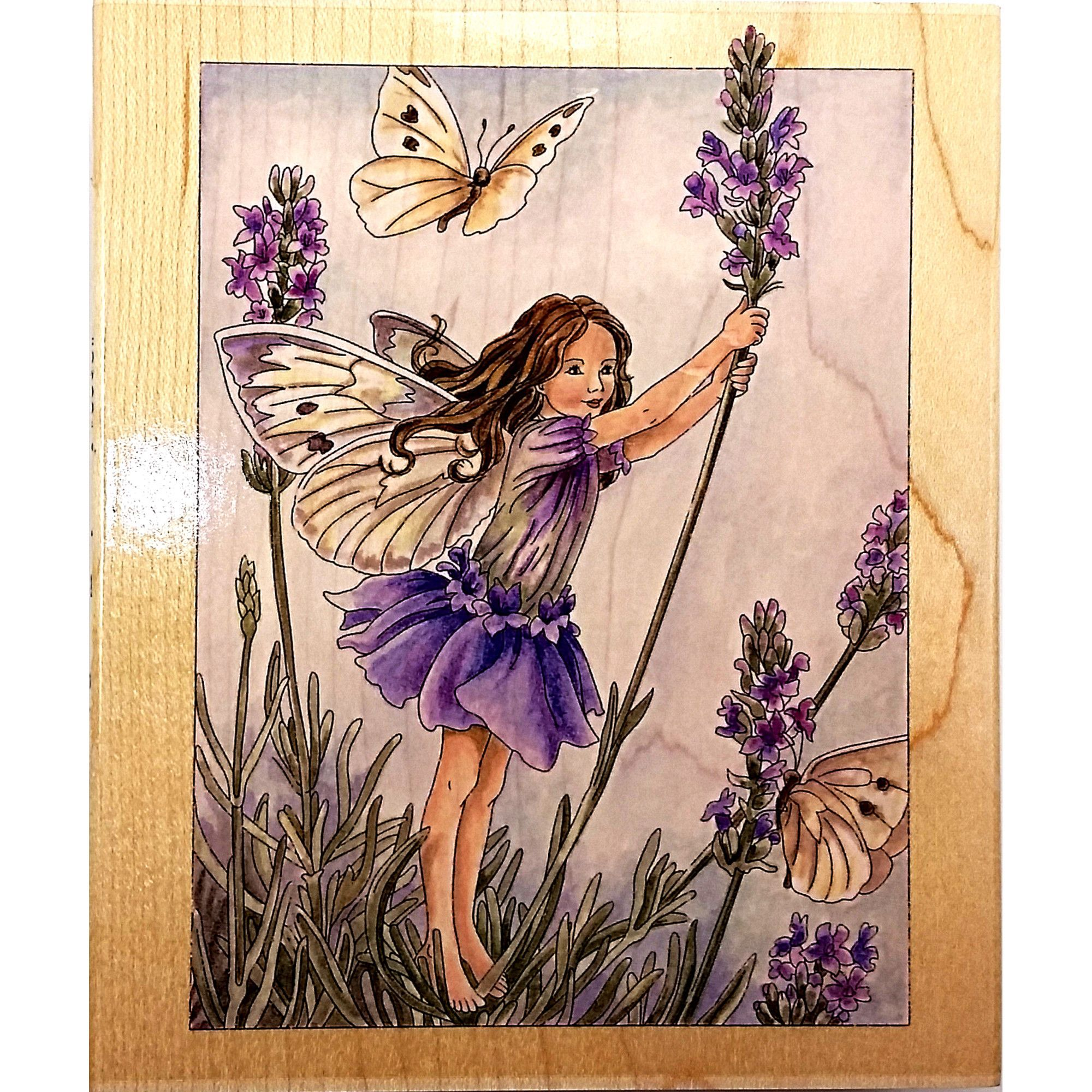 Lavender Flower Fairy Rubber Stamp 90021 Fairies Scrapbooking Stamps Happen c1523