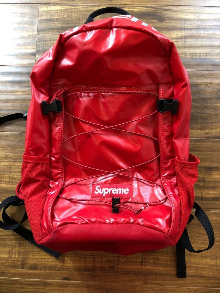 eBay #Sponsored SUPREME BACKPACK RED FW17 Cordura Brand ...