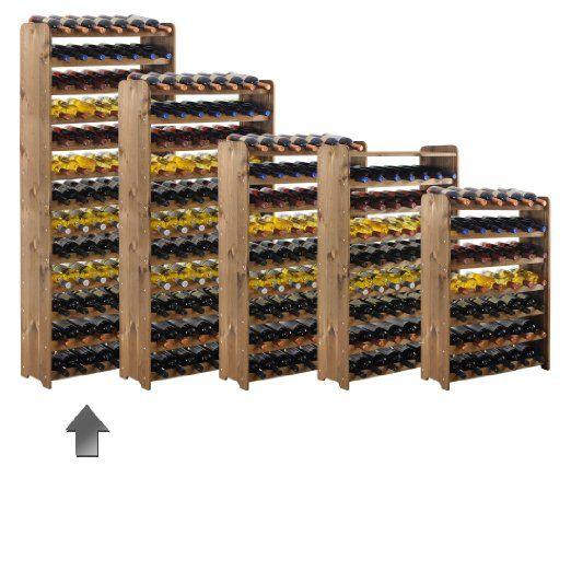 Casier à bouteilles / Étagère à vin OPTIPLUS modèle 3, en bois