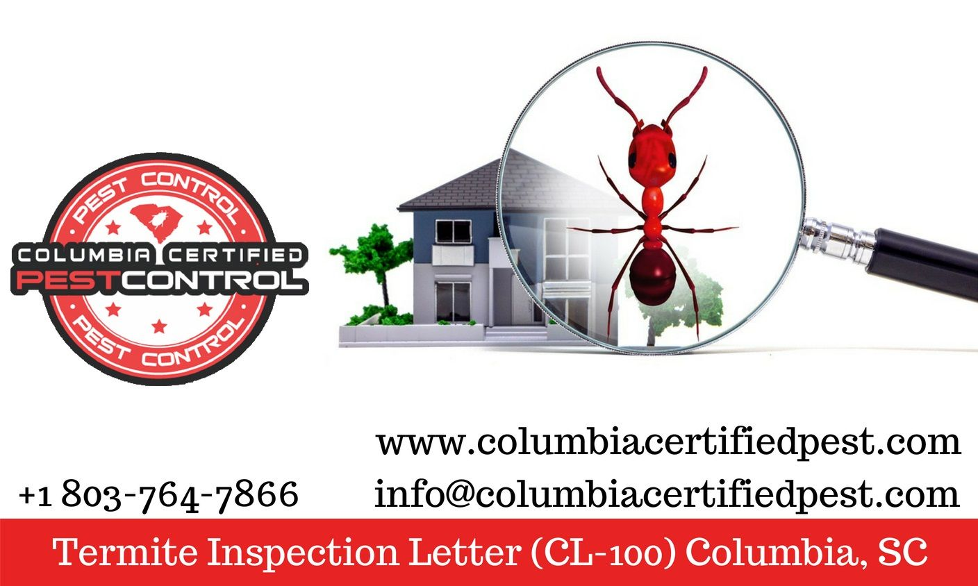 sc youll need to be able to show a state required wood infestation report wir this is usually referred to as a cl 100 termite letter