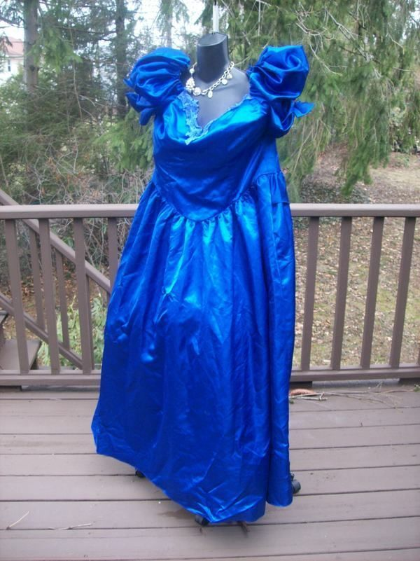 f1bd4c06f1 VINTAGE 80s PLUS SIZE PROM PARTY DRESS FAIRY GODMOTHER XXL 2XL 3XL ...