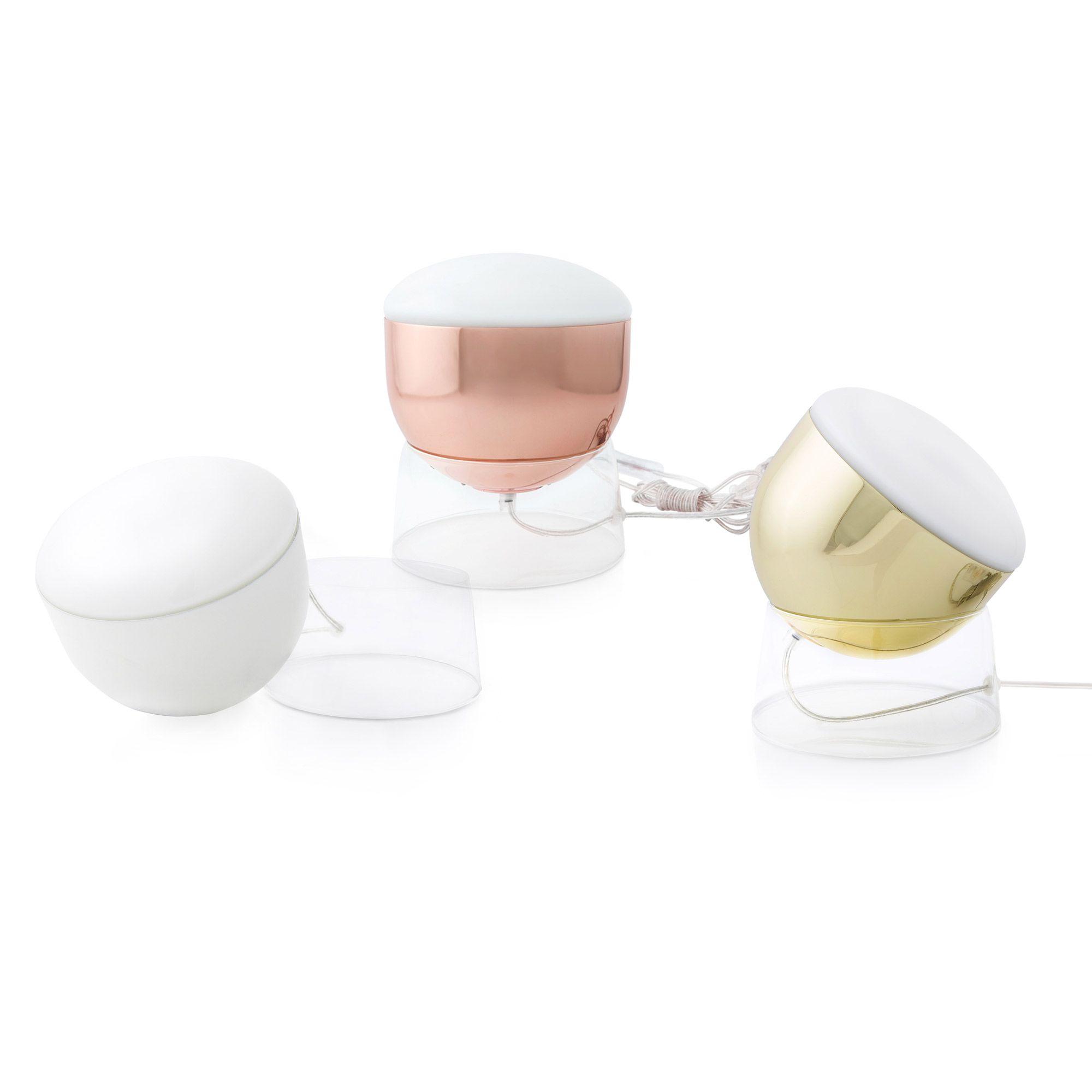 Orientable Transparent Ø18cm Poser À Blancbase Verre Glossy Lampe 9I2eDYHWE