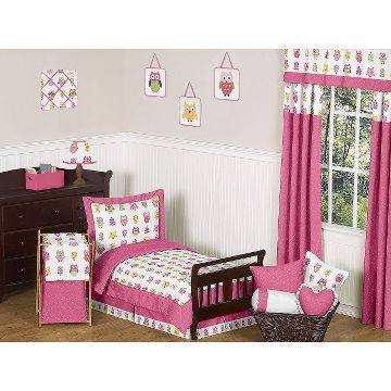 Sweet Jojo Designs 5Pc Happy Owl Toddler Bedding Set  Pinktaupe Gorgeous Toddler Bedroom Set Inspiration Design