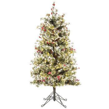 Fast Shape Snow Needle Pine Pre-Lit Christmas Tree - 4.5' - Fast Shape Snow Needle Pine Pre-Lit Christmas Tree - 4.5